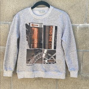 Zara boys collection London Bridge sweatshirt